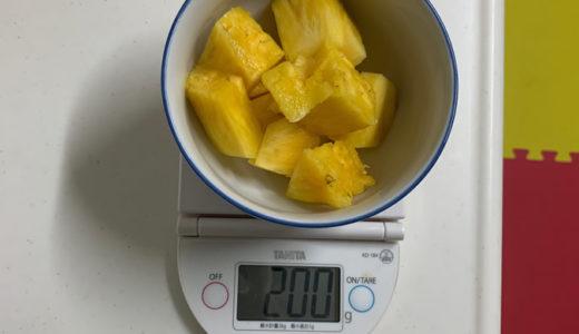 パイナップルを食べて血糖値を計ってみた。